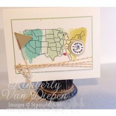 Spring Trend- Travel Map it Out Stamp set, Stampin' Up! www.stampinbythesea.com