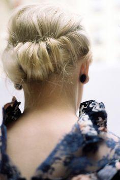 Twist updo by Jean-Baptiste Sinniger:  #nail #limoni #make up #christmas #hair