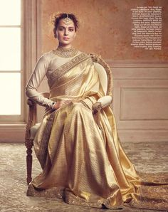 Saree is considered to be another eastern fashion trend which has also has hype equally as compared to anarkali dresses and lehenga dresses. Indian Wedding Outfits, Indian Outfits, Wedding Dresses, Golden Saree, Saree Trends, Stylish Sarees, Elegant Saree, Saree Look, Indian Attire