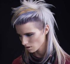 By Nicola Smyth #hairdesign #hairdye #hairfashion #hairstyle #mullet #mohawk…