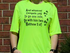 Women's Matthew 5:41 Short Sleeve Cooling Performance Crew Shirt