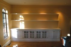 Family Room Built In Bookcases With Glass Doors P Filtered