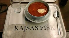 The perfect seafood soup for a quick lunch stop in the centre of Stockolm