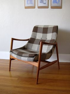 This chair is remarkable! Perfect upholstery - Vintage Norwegian Modern Armchair
