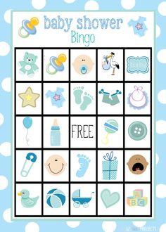 Bingo para Baby Shower de Niño, para Imprimir Gratis.