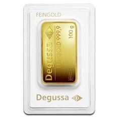 100g Gold Bullion   Gold Bar   Degussa   goldankauf-haeger.de