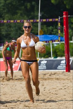 To play volley ball on the beach and look hot!