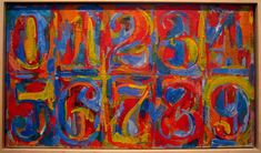 Jasper Johns 0-9 Typography Complementary Color Graphic Rendering