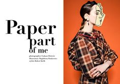 Hunger Magazine: paper part of me, Illustration by Magdalena Pankiewicz