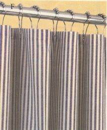 Shower Curtain - Ticking Stripe