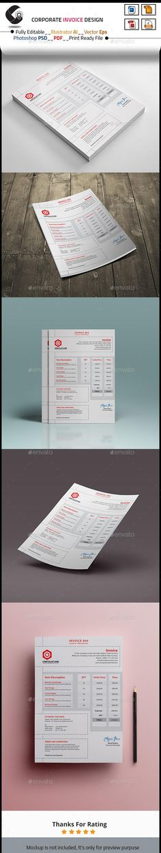 Spreadsheet Templates   Microsoft Word Graphic Design Invoice     Invoice for  6   Envato  proposal  invoice  stationery  PrintDesign   BestDesignResources