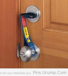 Super Grip Lock Deadbolt strap is a dead end for intruders! Door can't be opened, even with a key. Great for nights home alone.