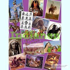 Indianen collage