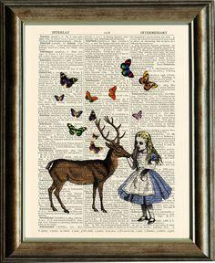 Alice in Wonderland Print / Deer