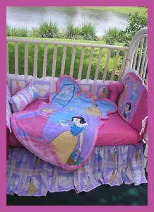 Disney Princess 4 Piece Crib Bedding Set Unisex Crib Bedding