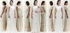 Jenny Packham 2013 collection - simply stunning. A move away from Jenny's usual heavy beading to more cobwebby weighty laces and corsage detailing. Very flattering!
