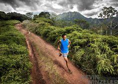 Trail running Kauai