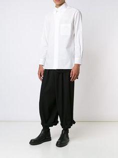 yohji yamamoto men triple collar shirt | Yohji Yamamoto Asymmetric Collar Shirt - Farfetch
