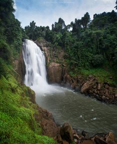 Haew Narok Waterfall.. Translation of the name of this waterfall is 'Hell Canyon'. Khao Yai National Park. Na Hin Lat, Nakhon Nayok, Thailand.