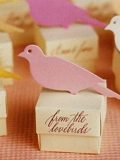 From the love birds wedding favor