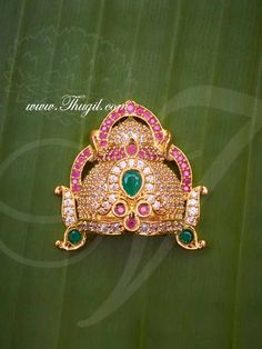inch Small size Crowns for Hindu God and Goddess Buy now Emerald Stone, Diamond Stone, Silver Pooja Items, Antique Jewelry, Silver Jewelry, Hanuman Images, Royal Jewels, Crown Royal, Durga Goddess