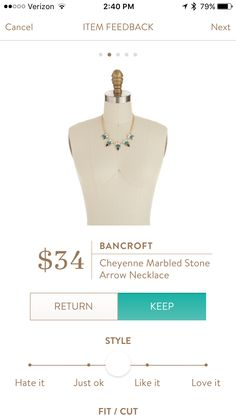 Dear Stylist: Ooooo, this is really pretty and I don't have any blue jewelry like it!