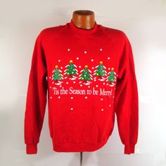 Ugly Christmas Sweater Vintage Sweatshirt by purevintageclothing Holiday Tacky party
