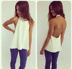 $4.14 White backless tanktop.