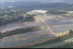 Aerial view of Apple's massive solar farm in North Carolina