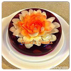 Floral Jello gelatin art