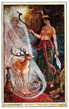 'The brown fairy book' edited by Andrew Lang, with eight coloured plates and numerous illustrations by H. J. Ford. Published 1914 by Longmans, Green & Co., London.