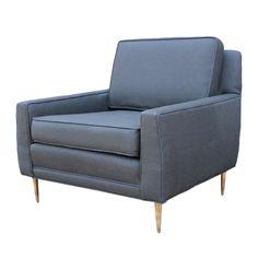 1stdibs.com | Brass legged club chair attributed to Dunbar