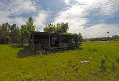 Along the Coastal Georgia Greenway 155.  Not sure of the location. Lots of old dilapidated structures like this along the way. April 18, 2015. #rungeorgia #ultrarunning #cgg155 #gopro