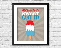 Nothing a sweet can't fix poster funny by RainbowsLollipopsArt