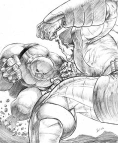 pencil drawing of colossus as the juggernaut - Google Search