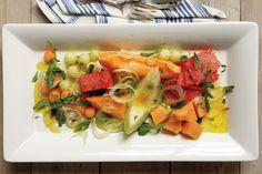 Melon Salad with Arugula, Fennel, and Marjoram