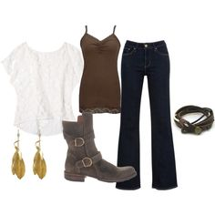 """""""lace and leather"""" by emily1967 on Polyvore"""