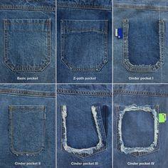 The detail of pockets of collection Ader Error, Refashion, Denim, Fashion Design, Fashion Brand, Instagram, Pants, Shirts, Clothes