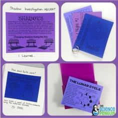 Solar Sytem Mini Charts by the Science Penguin - also useful for absent students Interactive notebook review cards and accomodations. #sciencepenguin #science #penguin #student