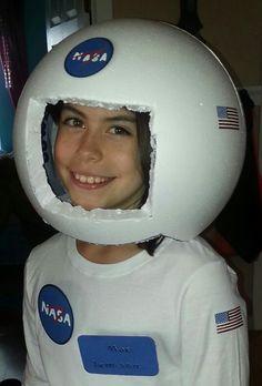 DIY styrofoam astronaut helmet