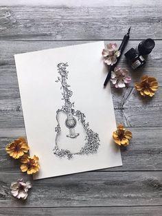 guitar tattoo sketch from Aline Driemeyer.points - guitar tattoo sketch from Aline Driemeyer. Music Tattoo Designs, Music Tattoos, Body Art Tattoos, New Tattoos, Male Tattoo, Big Tattoo, Guitar Sketch, Guitar Drawing, Guitar Art
