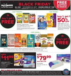PetSmart Black Friday 2017 Ads and Deals Treat your pet to the holiday season it has always wanted and shop PetSmart Black Friday for the huge deals and sales on top pet products. Xl Dog Beds, Black Friday 2017 Ads, Shopping Day, Cat Treats, Free Black, Your Pet, Pet Products, Holiday, Coupons