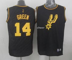 NBA fashion Jersey San Antonio Spurs #14 green black Jersey