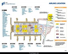 LAX Terminal Map circa mid2000s LAX International Airport