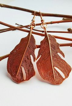 Hey, I found this really awesome Etsy listing at https://www.etsy.com/uk/listing/514314389/feather-earrings-rose-gold-earrings-long