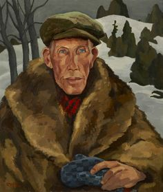 """Uncle George,"" Edwin Holgate, 1947, oil on Masonite, 28 x 24"", Art Gallery of Hamilton."