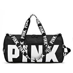 Shoe Storage Travel, Tote Handbags, Leather Handbags, Yoga Fitness, Pink Duffle Bag, Duffle Bags, Pink Gym, Baskets, Le Tennis