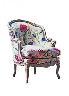 The fabric is just gorgeous on this French Bergere...I