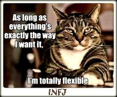 Ok, so I have learned to be a little more flexible than some of my fellow INFJers, but I understand this feeling.