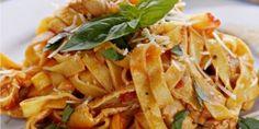 Ταλιατέλες με κοτόπουλο, ντομάτα και βασιλικό Pasta Salad, Food Processor Recipes, Cabbage, Healthy Recipes, Healthy Foods, Tasty, Vegetables, Ethnic Recipes, Simple